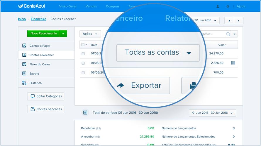 controle financeiro - ContaAzul