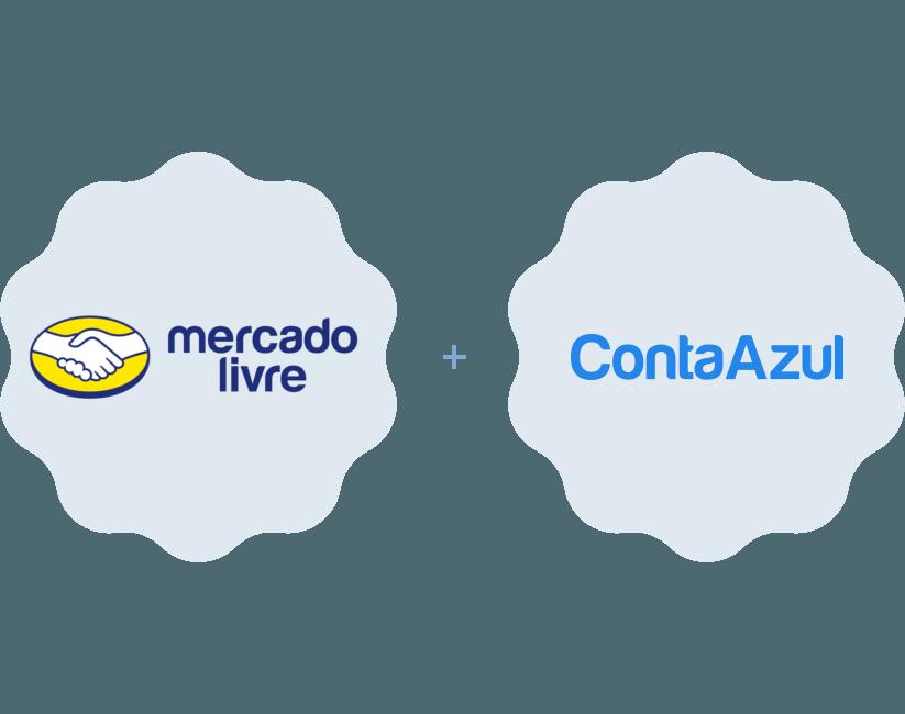 Logotipos Mercado Livre e Conta Azul