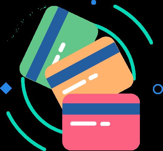 Ícone representando cartões de crédito