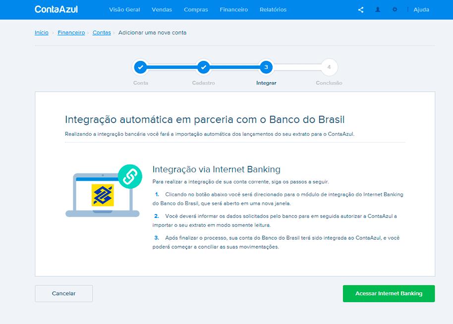 Integração automática com banco para conciliação