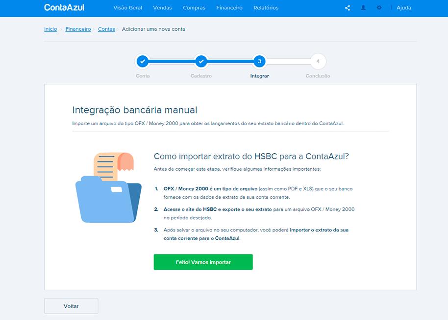 Integração de OFX para conciliação bancária
