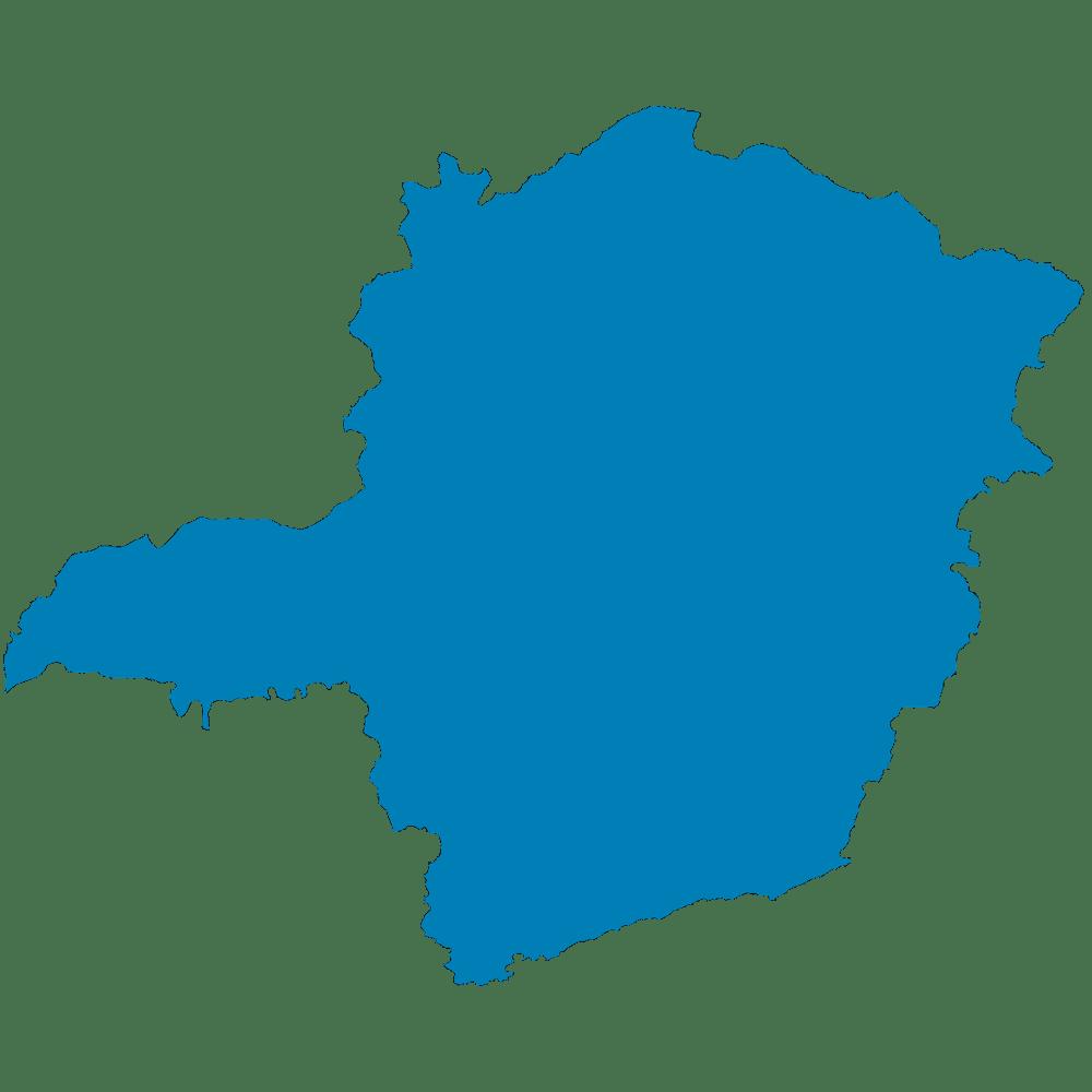Mapa do estado de Minas Gerais