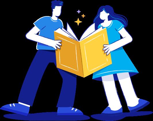 Pessoas com livro