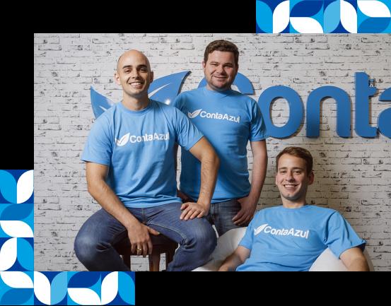 Vinicius Roveda, João Zaratine e José Carlos Sardagna, fundadores da Conta Azul