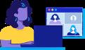 Reuniões online na Conta Azul