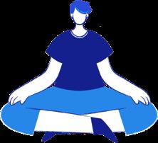 Pessoa sentada ou fazendo Yoga